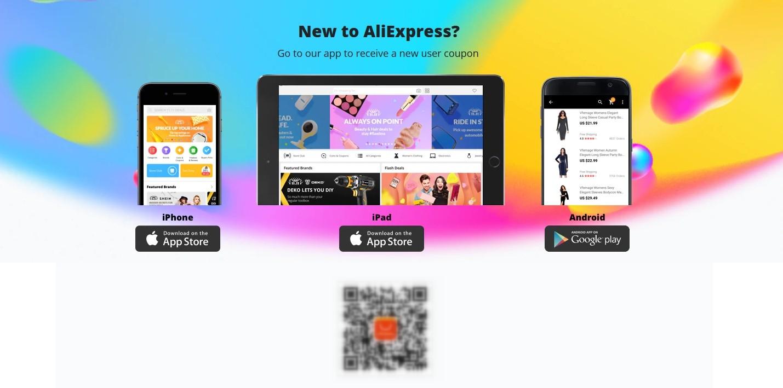 Новенький на AliExpress? Поставь мобильное приложение и получи свой первый скидочный купон