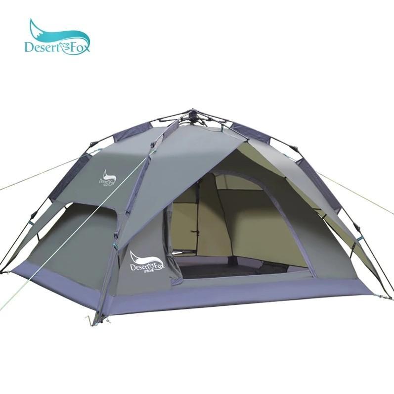 Двухслойная палатка с тканью из стекловолокна и с автоматической установкой