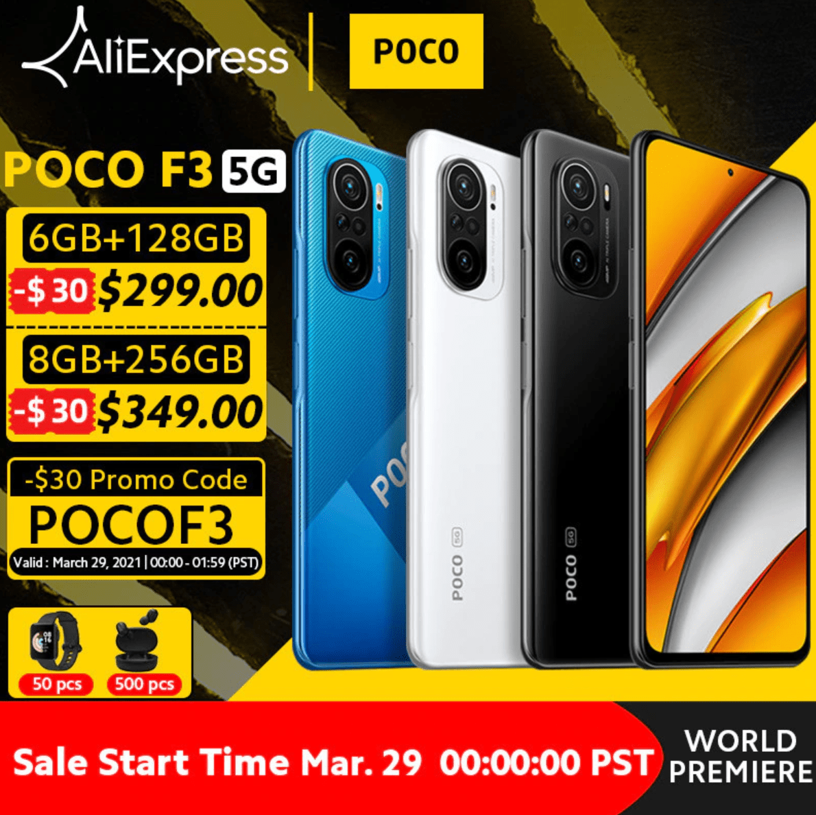 Мировая премьера Xiaomi Poco F3 5G